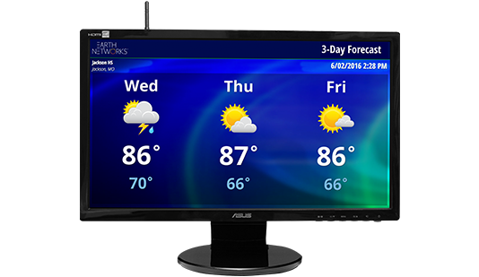Real-Time HD Weather Display