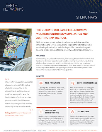 Screenshot of the Sferic Maps datasheet
