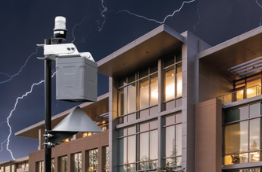 Sferic Siren outdoor weather alert system outside of a buliding