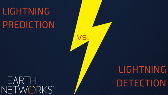 lightning prediction vs. lightning detection
