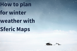 How to plan for winter weather with Sferic Maps, image of cottage snowed in with more snow falling