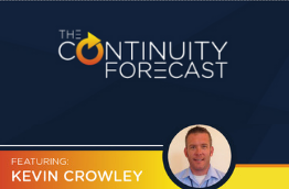 Small circular image of Kevin Crowley and the Continuity Forecast podcast logo