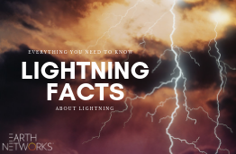 "A tile image that says ""Everything you need to know about lightning"" with ""Lightning facts"" bolded. The background is a stormy sky with lots of lightning."