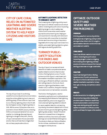 Screenshot of the Cape Coral Case Study