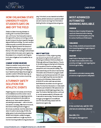 Screenshot of the Oklahoma State University Case Study for Outdoor Mass Notification System