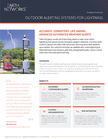 Screenshot of the Outdoor Alerting System / Outdoor Warning Siren datasheet
