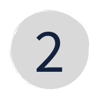"a dark blue ""2"" in a grey circle"