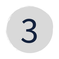"a dark blue ""3"" in a grey circle"