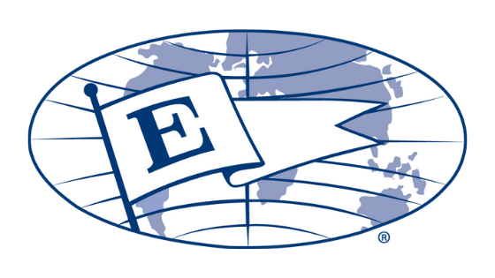 "The Presidential Award for Experts (""E"" Award) logo, awarded to Earth Networks for their export of commercial weather stations, lightning alerts, etc."