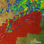 Dangerous thunderstorm alerts, radar, and NWS alerts over the southern plains