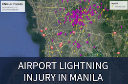 Airport lightning injury in Manila