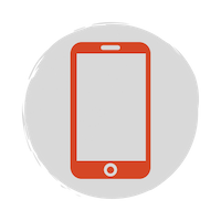 Red mobile phone icon