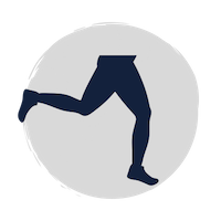 lower half of body running icon