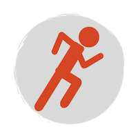 Running icon red person