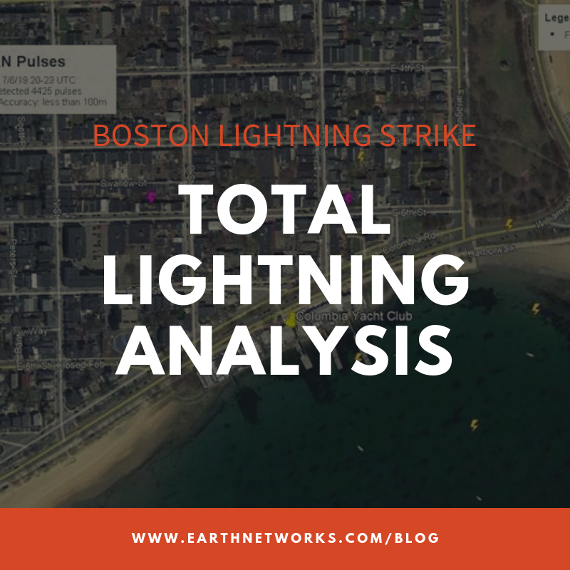 Lightning strikes boat at Boston Yacht Club on Saturday, July 6, 2019.