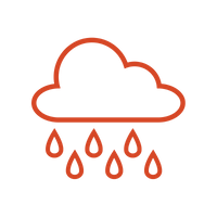 Red raincloud icon