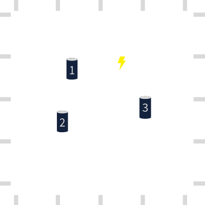 three sensors and a lightning strike to demonstrate how lightning detection works