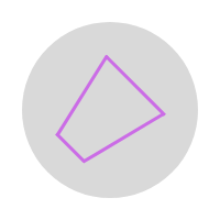 Purple icon showing a Dangerous Thunderstorm Alert polygon icon