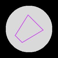 Purple icon showing a Dangerous Thunderstorm Alert polygon icon