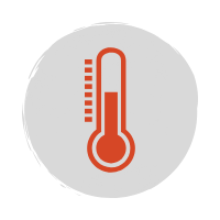 Red thermometer icon