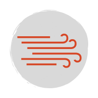 red wind icon