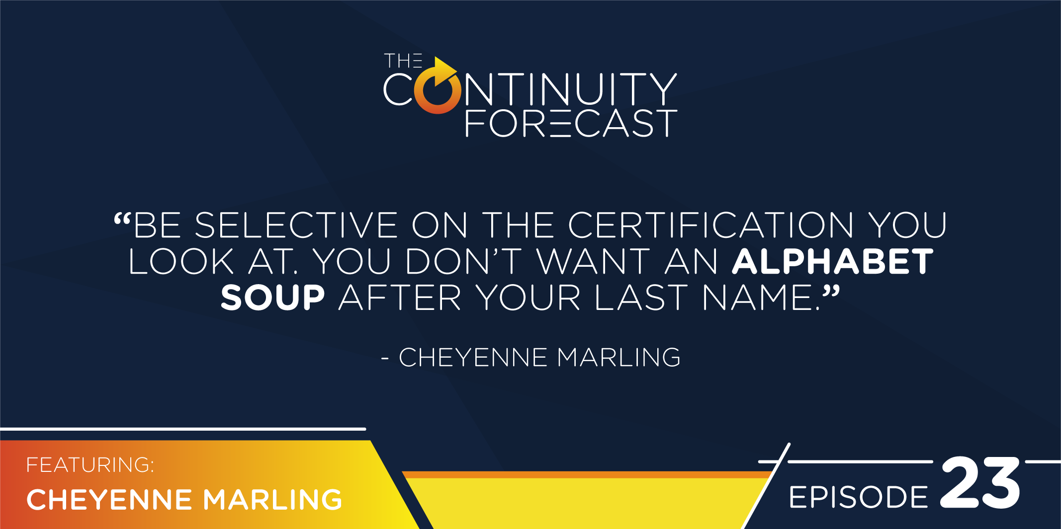 Be selective on the certification you look at. You don't want an alphabet soup after your last name.