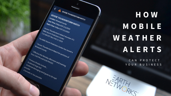 Mobile weather alerts for business shown on Earth Networks Enterprise Alerting Software, Sferic Connect