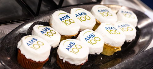 AMS 100th birthday cupcakes