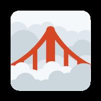 icon of fog and a bridge