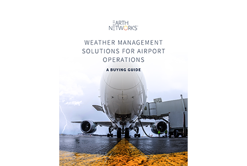 Airport Operations Weather Solutions Buying Guide Cover Image - Earth Networks