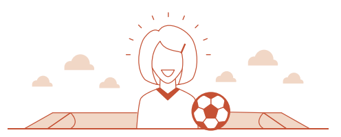 female soccer coach icon