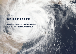 "Cover image for ""Be prepared: The best business continuity tips for hurricane season"" eBook cover"