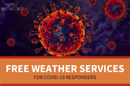 Free weather services for COVID-19 Responders from EArth Networks blog tile