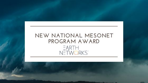 Earth Networks awarded new National Mesonet Program contract