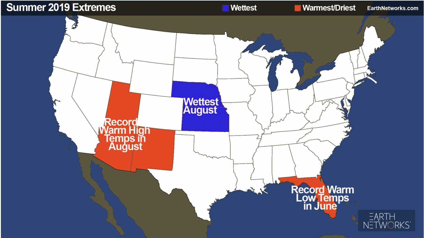 Summer 2019 summer extremes from the 2020 summer outlook webinar