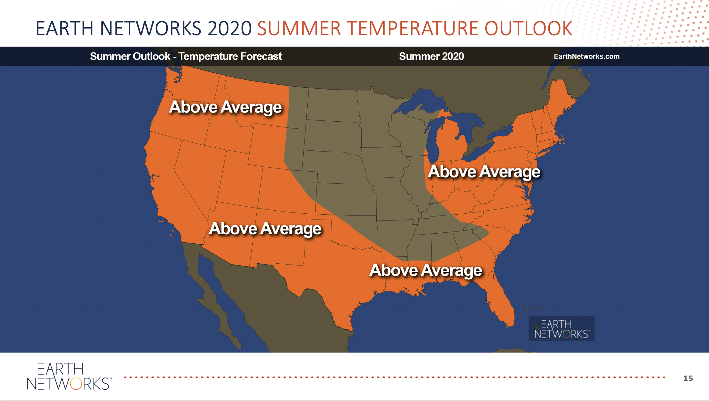 Earth Networks 2020 Summer Temperature Outlook