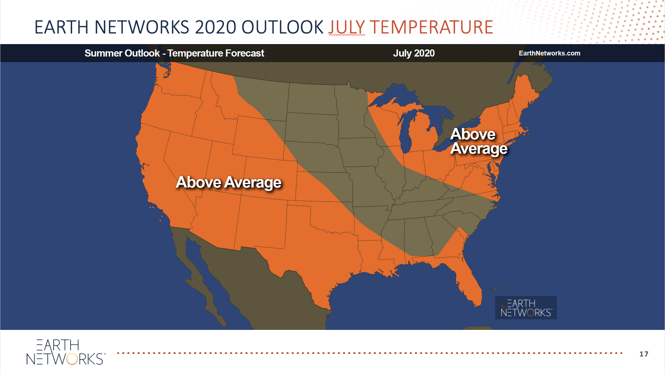 2020 Summer Outlook Temperatures for july