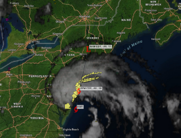 Tropical Storm Fay on Sferic Maps