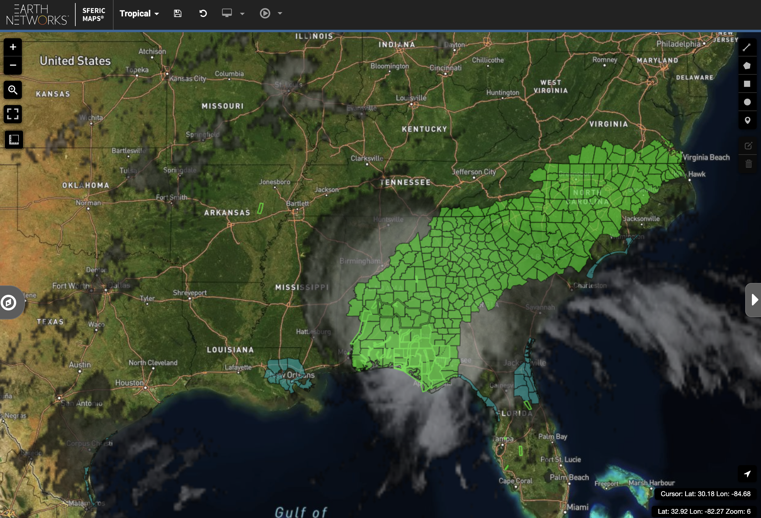NWS Flood Watches and Warnings as a result of Hurricane Sally